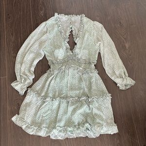 Dresses - Ruffle Mini Swing Dress